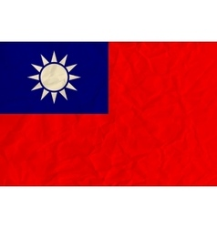 Republic of China paper flag vector image