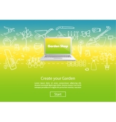 Create your garden color website template vector