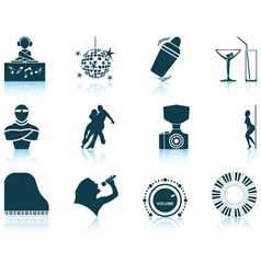 Set of night club icons vector