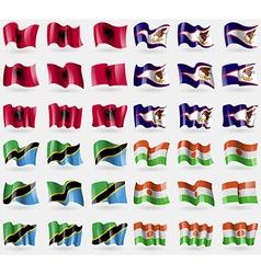 Albania american samoa tanzania niger set of 36 vector