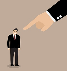 Angry boss being complaining to employee vector image