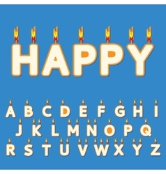 Birthday candles letters vector image vector image