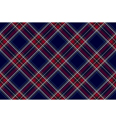 Blue red diagonal check fabric texture seamless vector