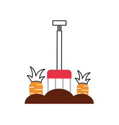 carrot cultivation isolated icon vector image