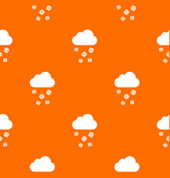 Cloud and hail pattern seamless vector