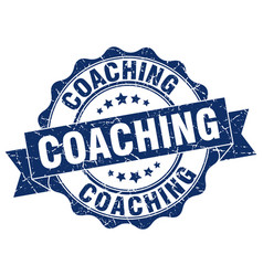 Coaching stamp sign seal vector