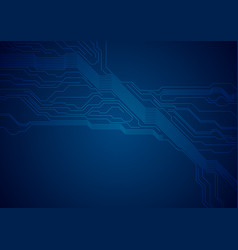dark blue circuit board technology futuristic vector image
