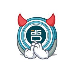 Devil digixdao coin mascot cartoon vector
