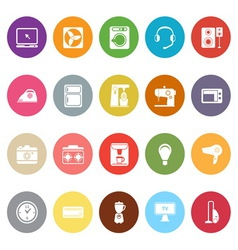 Electrical machine flat icons on white background vector image vector image