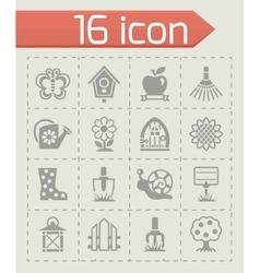 Gardening icon set vector image vector image