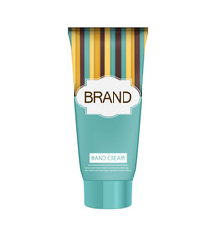 hand care cream bottle tube template for ads or vector image vector image