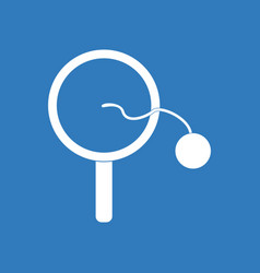 Icon on background kids racket and ball vector