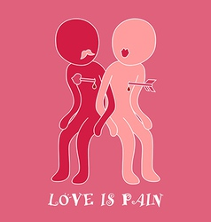 Love Pain vector image
