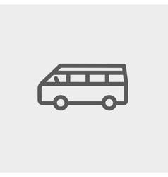 Minibus thin line icon vector