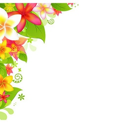 Natural Background With Flower vector image vector image