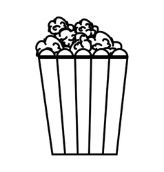 Pop corn food icon vector