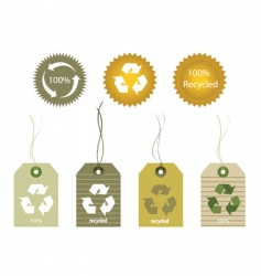 recycled tags vector image vector image