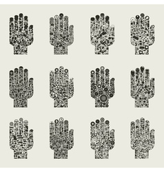 Set of hands2 vector