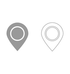sign location it is black icon vector image