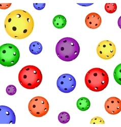 The pattern of color floorball balls vector