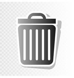 trash sign new year blackish vector image