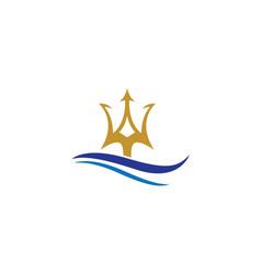 Trident logo template icon design vector