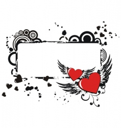 Valentine's frame vector image vector image