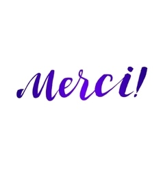 Thank you french language lettering vector