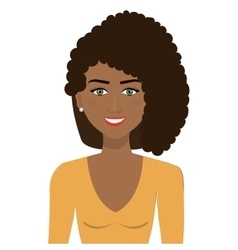 elegant businesswoman isolated icon design vector image