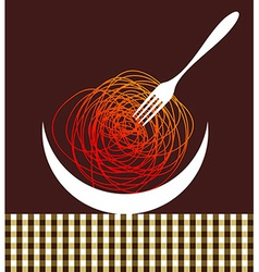 Noodles contemporary composition vector