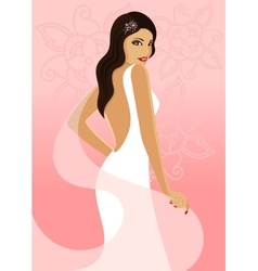 Bride on a pink background vector