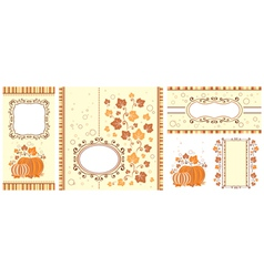 Set of autumn banners vector