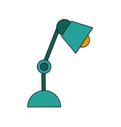 Desk lamp bulb light electric equipment vector