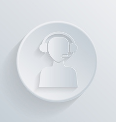 Circle icon with a shadow customer support vector