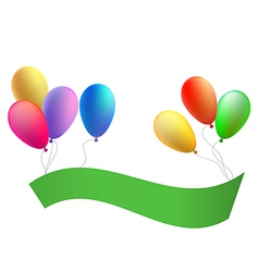 Balloons with a congratulation tape vector