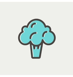 Broccoli thin line icon vector