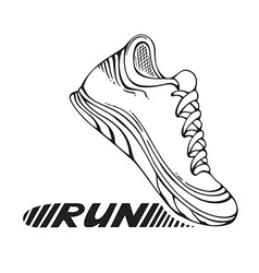 Running sport shoe symbol vector