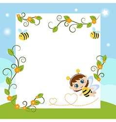 Happy baby with large sheet of paper vector image