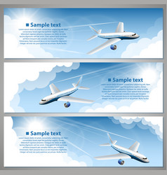 airfare banner set vector image vector image