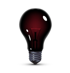 Black light bulb vector