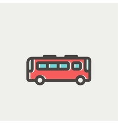 Bus thin line icon vector image