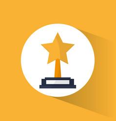 cinema golden trophy award win vector image