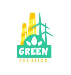 creative eco energy logo design template with vector image