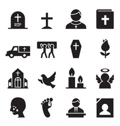 Funeral burial icon vector