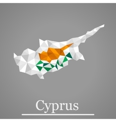 Geometric map of Cyprus vector image