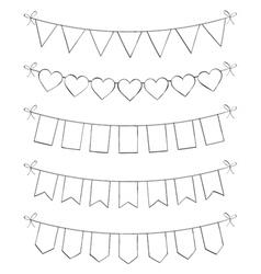 Hand drawn bunting vector