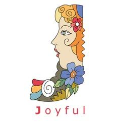 J joyful vector