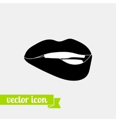 Lips icon 2 vector image