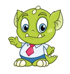 little business monster vector image