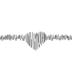 Music equalizer in form of heart vector image vector image